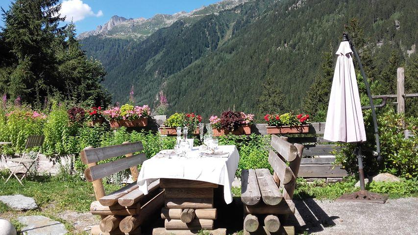 Le jardin alpin du restaurant gastronomique Les Tables de Philippe