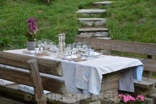 Jardin alpin - Les Tables de Philippe Chamonix