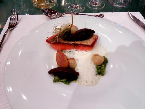 Saumon d'Isigny mariné au sel d'Himalaya et crème de parmesan